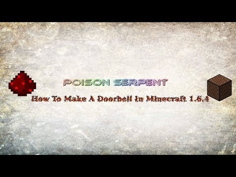 How to Make a Working Doorbell in Minecraft 1.6.4