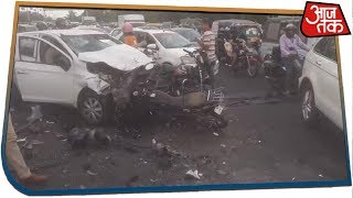 Overspeeding Uncontrollable Car Rams Into Vehicles In Jaipur, Kills Two People