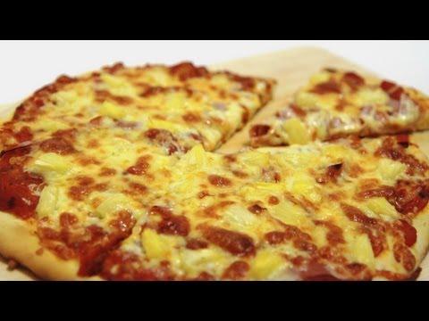 How To Make Hawaiian Pizza - Easy Ham And Pineapple Pizza Recipe