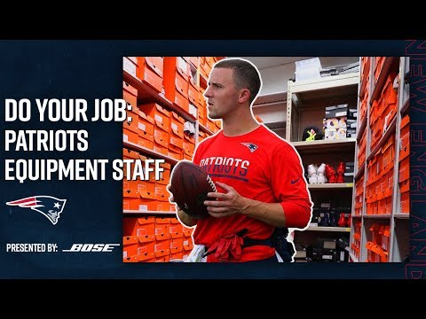 How The Patriots Equipment Staff Gears Up for Gameday   Do Your Job