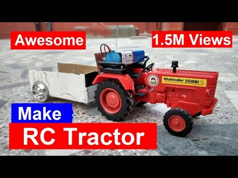 How to make a Tractor - RC TRACTOR | Shamshad Maker
