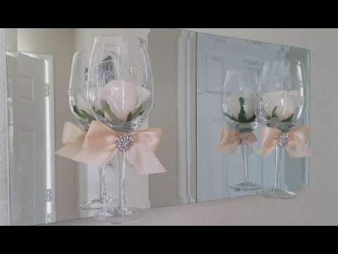 ELEGANT WINE GLASS WALL DECOR | INEXPENSIVE DIY | EASY PROJECT 2018
