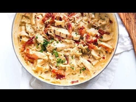 One-Pot Chicken-Bacon-Chipotle Alfredo