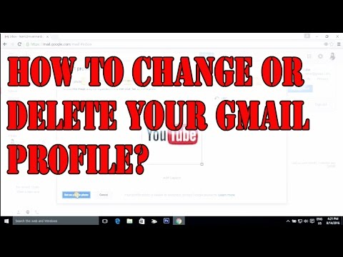 How to delete or change your gmail profile pictures