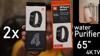 Xiaomi Mi Band 4 India unit unboxing, Mi Smart Water Purifier, Mi 65 inch 4K TV