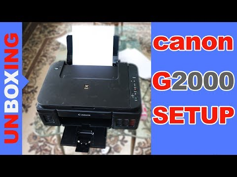 Canon G2000 All in One Inkjet Printer Unboxing Setup By Kasnox