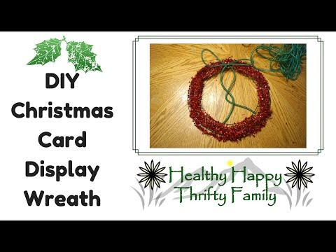 DIY Christmas Card Display Wreath