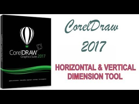 COREL DRAW 2017 USING HORIZONTAL & VERTICAL DIMENSION TOOL HINDI URDU PART 26