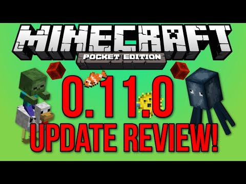 OFFICIAL - Minecraft: Pocket Edition 0.11.0 Update Review - All New Features!