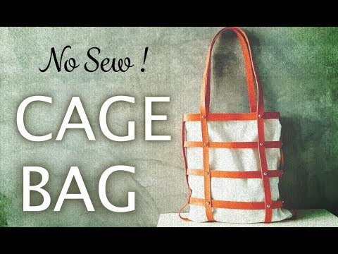DIY a Faux Leather Cage Bag ( No Sew, Fabric Scrap Project )