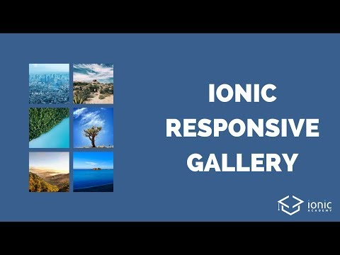 Ionic Image Gallery With Responsive Grid and Pinterest Style