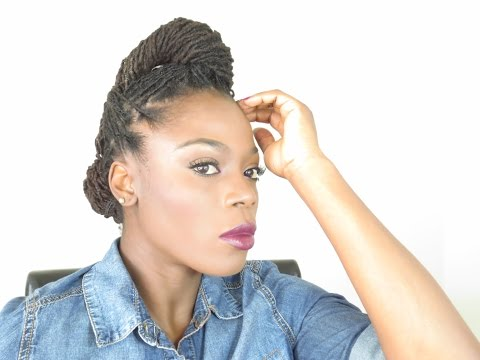End of Summer early Fall Loc Hairstyle Tutorial/Jungle Barbie