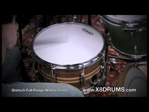 Xxx Mp4 Gretsch Full Range Walnut Snare Drum 7x13 Demonstration X8 Drums 3gp Sex