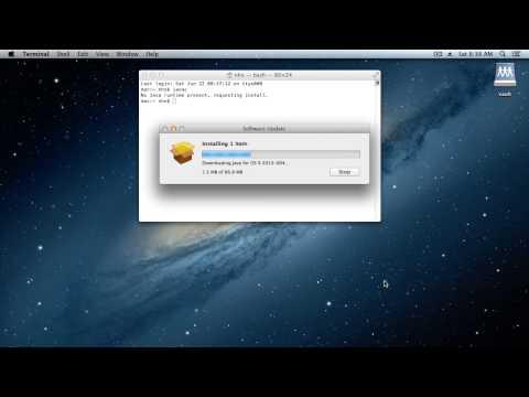 Install the Java Development Kit (JDK) on Mac OS X