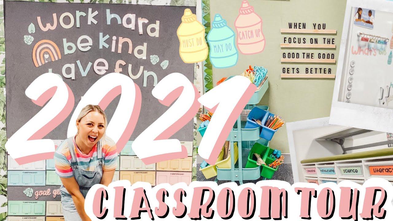 2021 CLASSROOM TOUR - AUSSIE CONTEMPORARY SET UP, CRICUT DIY AND TPT RESOURCES