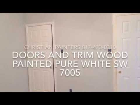 DOORS AND TRIM WOOD PAINTED PURE WHITE SW 7005 The Arbors Of Mansfield