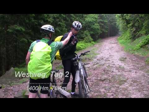 Westweg:Crossing the black forest on a mountainbike.1/2