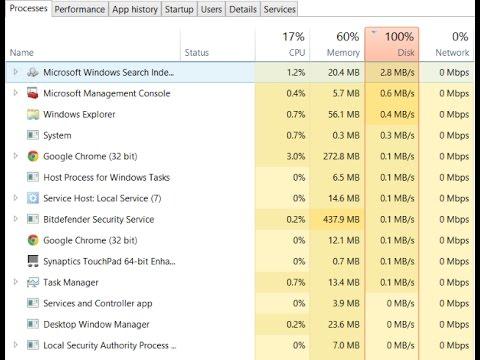 Windows 10 100% Disk usage - Solved