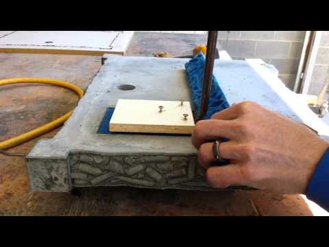 Removing Stuck Rubber Mold in Concrete Countertop