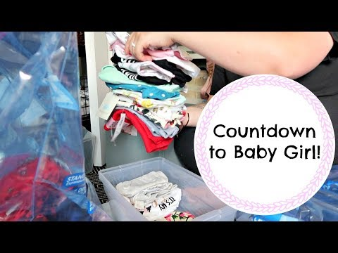 Prepping Newborn Clothes! || Countdown to Baby Girl