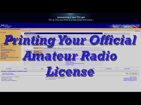 Printing Amateur Radio License