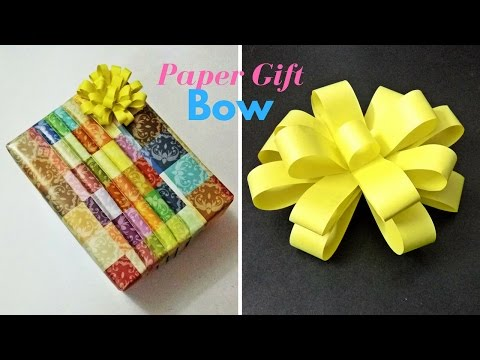 How to Make-Paper Gift Bow || Easy Paper Bow || Papierowa Kokarda || origami bow || Craftastic
