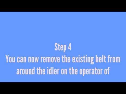How Do You Remove Garage Door Belt