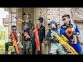 LTT Game Nerf War Warriors SEAL X Nerf Guns Fight Inhuman Group Car Thief