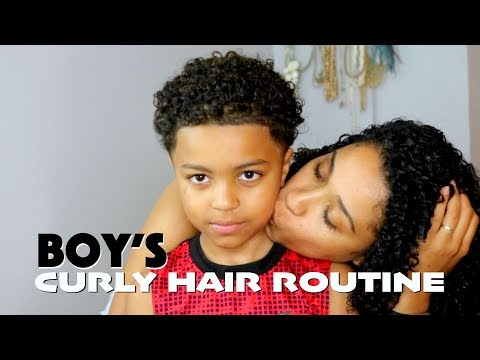 Boys Curly Hair Routine