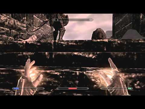 Skyrim - Tutorial - How to level up Restoration Fast !!