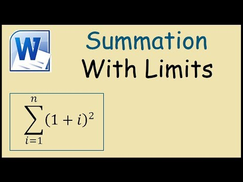 How to type summation with limits in Word