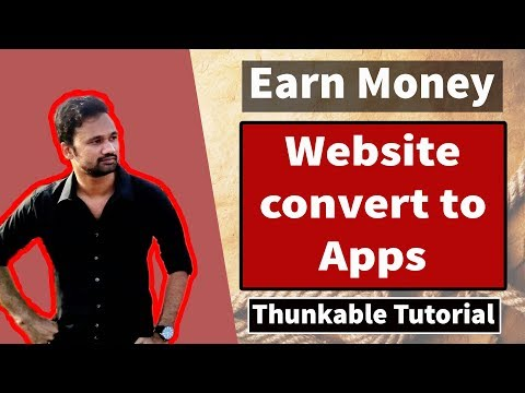How to Convert Web into App on thunkable or Appybuilder Bangla Tutorial