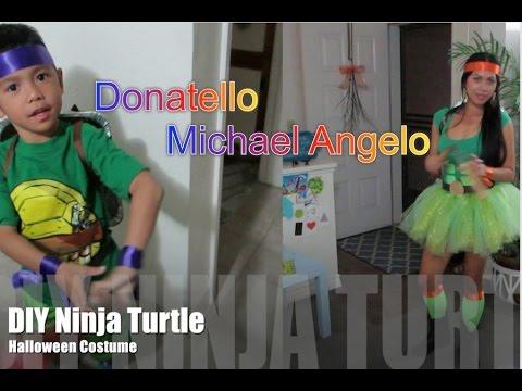 (DIY) Ninja Turtle Halloween Costume 2014 - AlyssaFaye