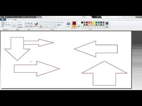 How to draw up,down,left and Right Arrows in Ms Paint