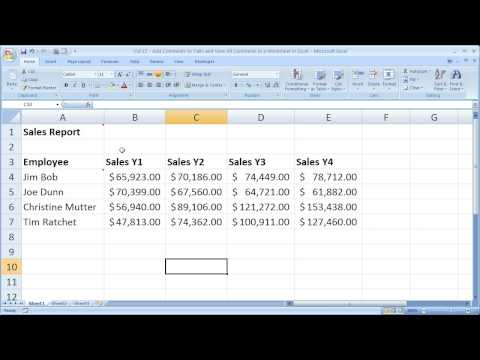 Excel Tips 15 - Add Comments, Remove Comments, Find Comments, and Edit Comments in Excel 2007
