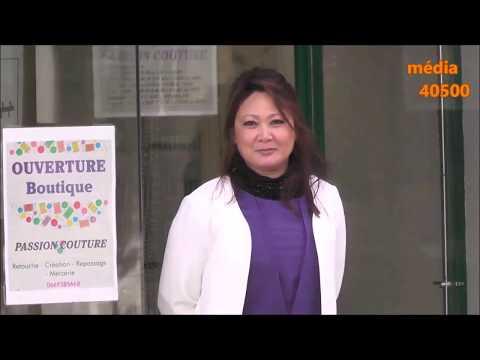 Marie-France DIBER ouvre la boutique PASSION COUTURE à St-Sever