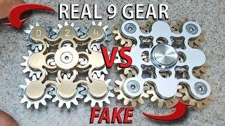 Download REAL VS FAKE 9 Gear Hand Spinner fidget toy, EDC finger spinner Video