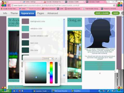 Tumblr Tutorial- How To Customize and Install a Theme for Free