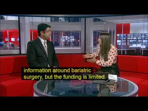Mr Rishi Singhal interviewed by BBC Midlands Today regarding weight loss surgery in the UK