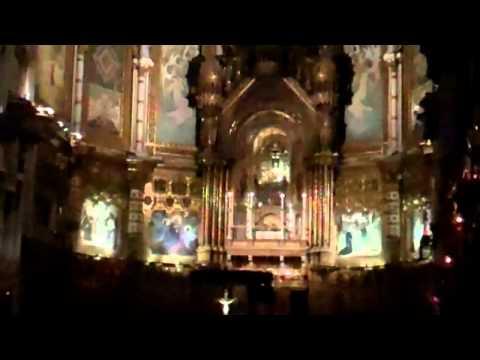 Basilica at Montserrat in Barcelona Spain
