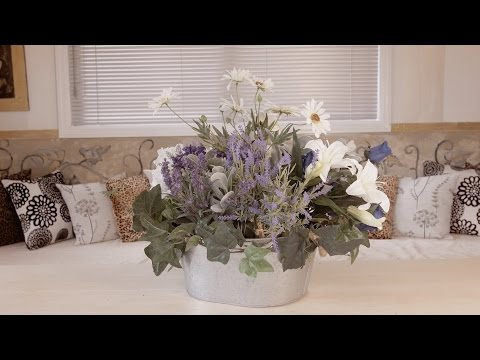 Blue Roses, Daisy and Lavendar Arrangement Floristry Tutorial
