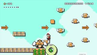 12 item challengesky vine jump by nfusegreg  super mario maker  no commentary