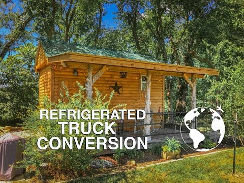 Refrigerated Box Converted into Tiny Cabin