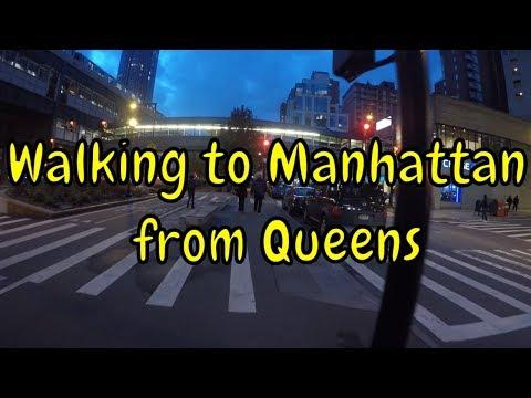 ⁴ᴷ Walking Long Island City to Midtown Manhattan via Queens Plaza and Queensboro (59th St) Bridge