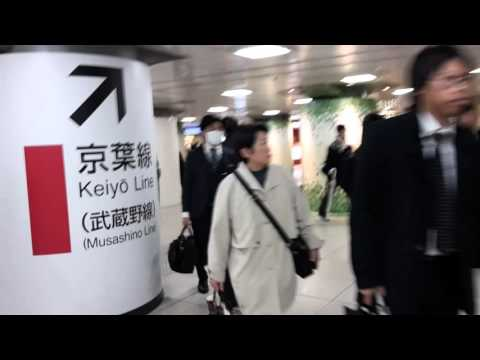 160307 (2/7) Tokyo Station: Transfer from Yamanote Line to Keiyo Line