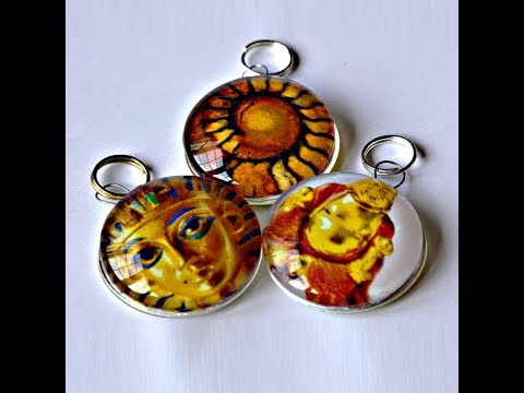 How To Make Pretty Glass Pendants - No Bezel or Trays - Easy!
