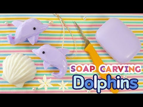 SOAP CARVING | Dolphins | Delfines | Easy |Tutorial | ASMR | DIY | Satisfying |