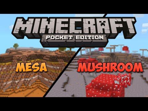 MUSHROOM & MESA BIOMES SEED! - Minecraft Pocket Edition Seed