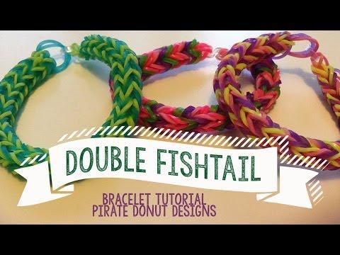 Double Fishtail Bracelet Tutorial- Rainbow Loom