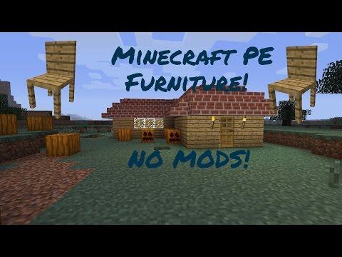 Minecraft PE Furniture (NO MODS)!!!
